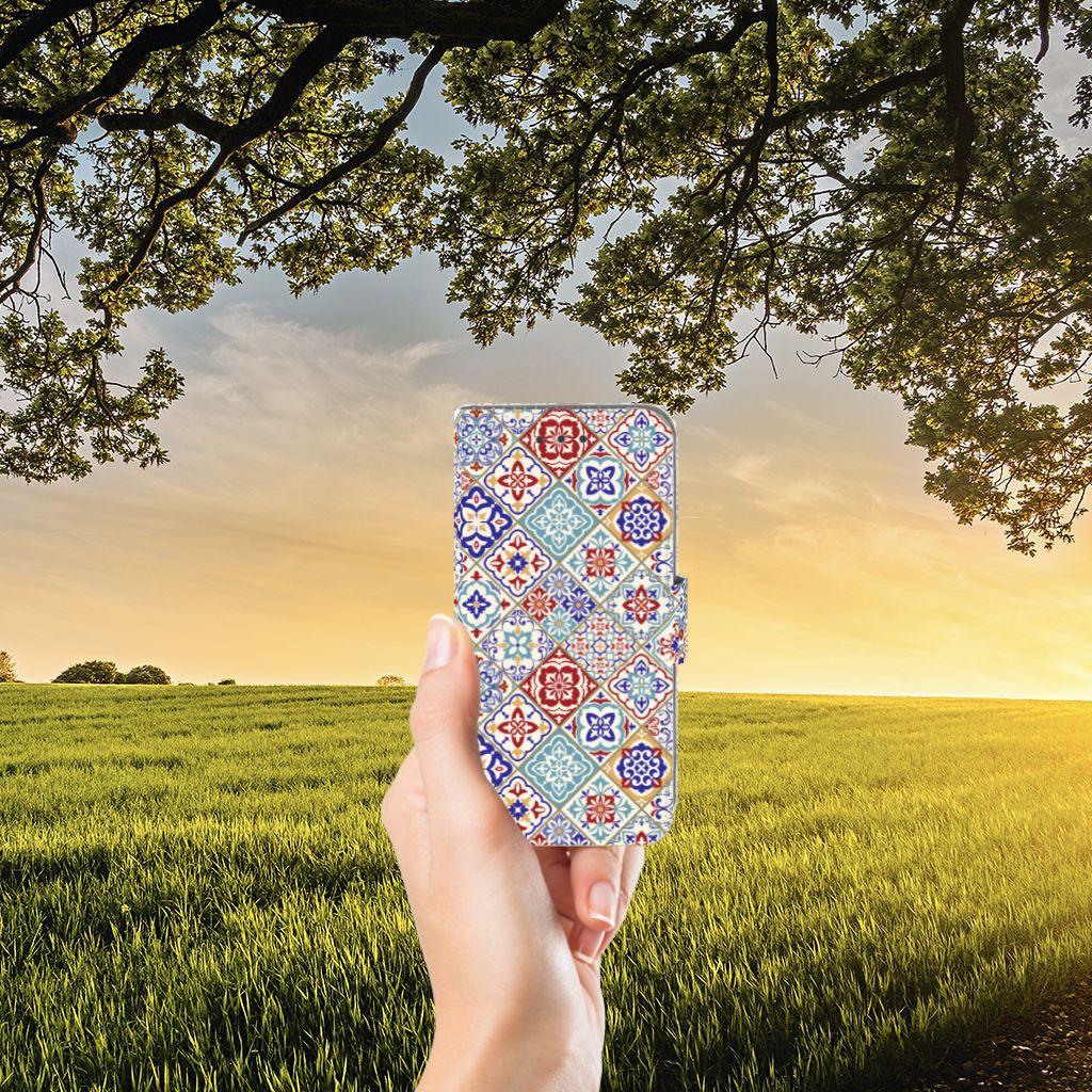 Samsung Galaxy J3 2016 Uniek Boekhoesje Tiles Color