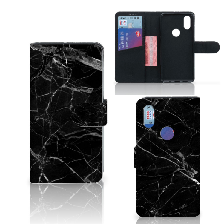 Xiaomi Mi Mix 2s Bookcase Marmer Zwart - Origineel Cadeau Vader