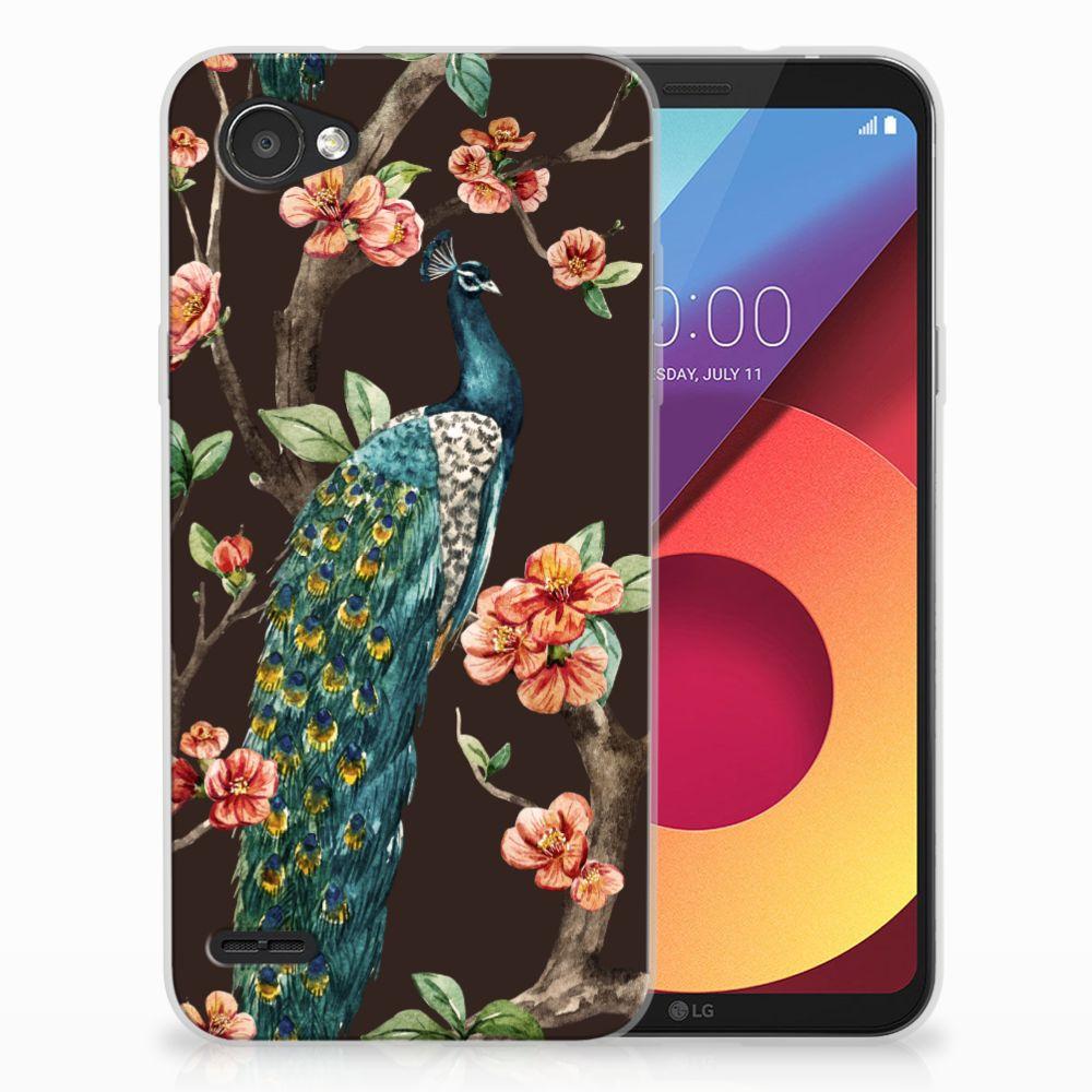 LG Q6 | LG Q6 Plus TPU Hoesje Pauw met Bloemen