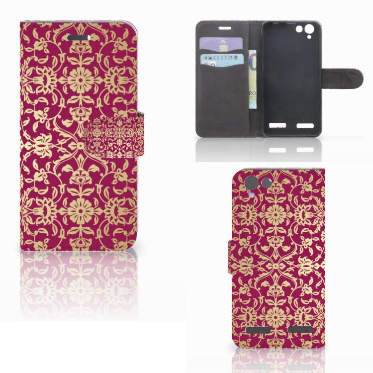 Wallet Case Lenovo Vibe K5 Barok Pink