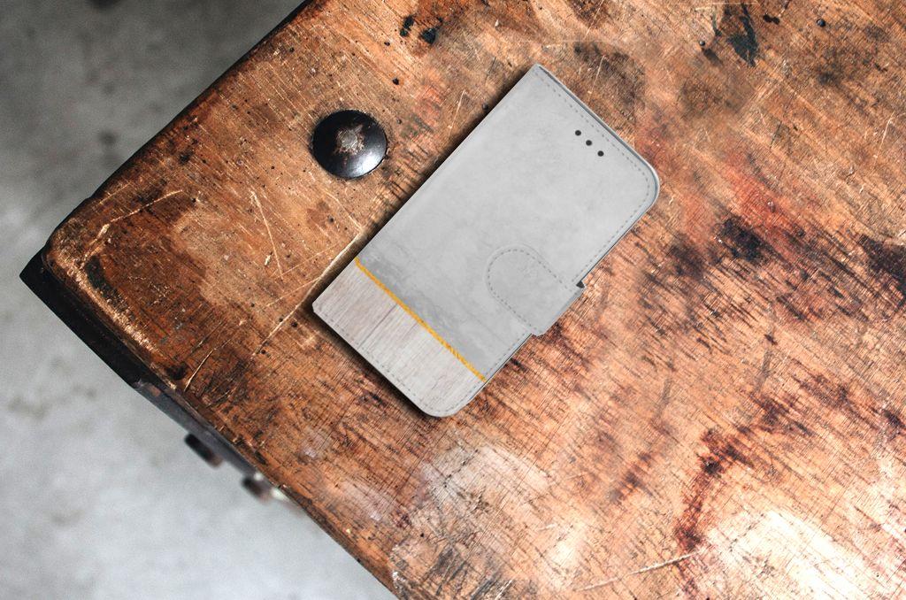 Samsung Galaxy Core Prime Uniek Boekhoesje Wood Concrete
