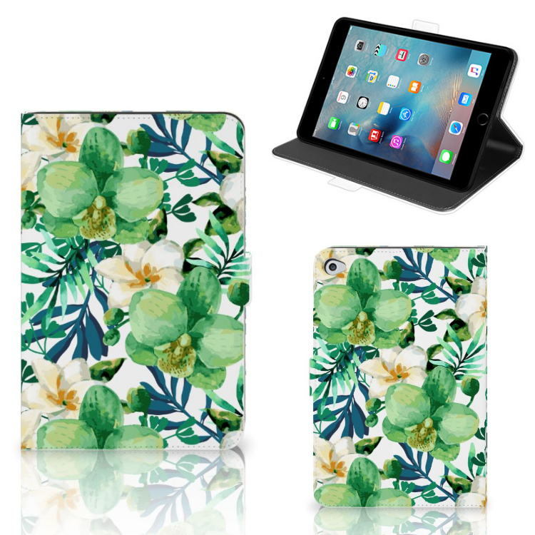 Apple iPad Mini 5 Tablet Cover Orchidee Groen