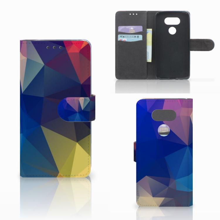 LG G5 Bookcase Polygon Dark