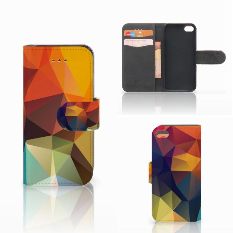 Apple iPhone 5C Bookcase Polygon Color