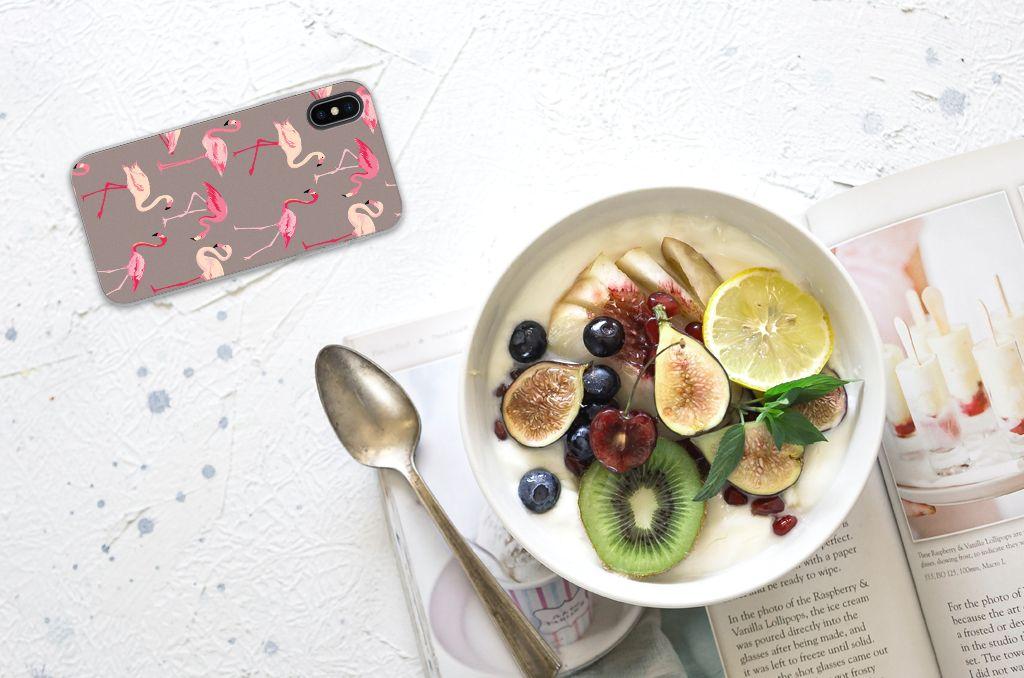 Apple iPhone X | Xs Uniek TPU Hoesje Flamingo