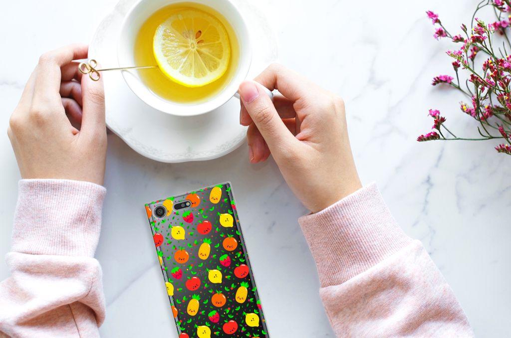 Sony Xperia XZ Premium TPU Hoesje Design Fruits