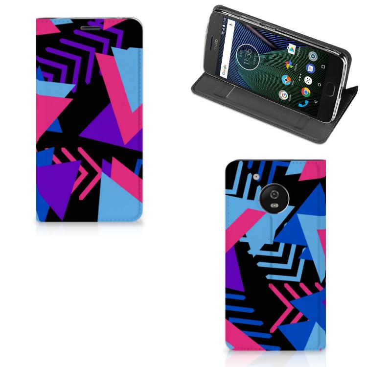 Motorola Moto G5 Stand Case Funky Triangle