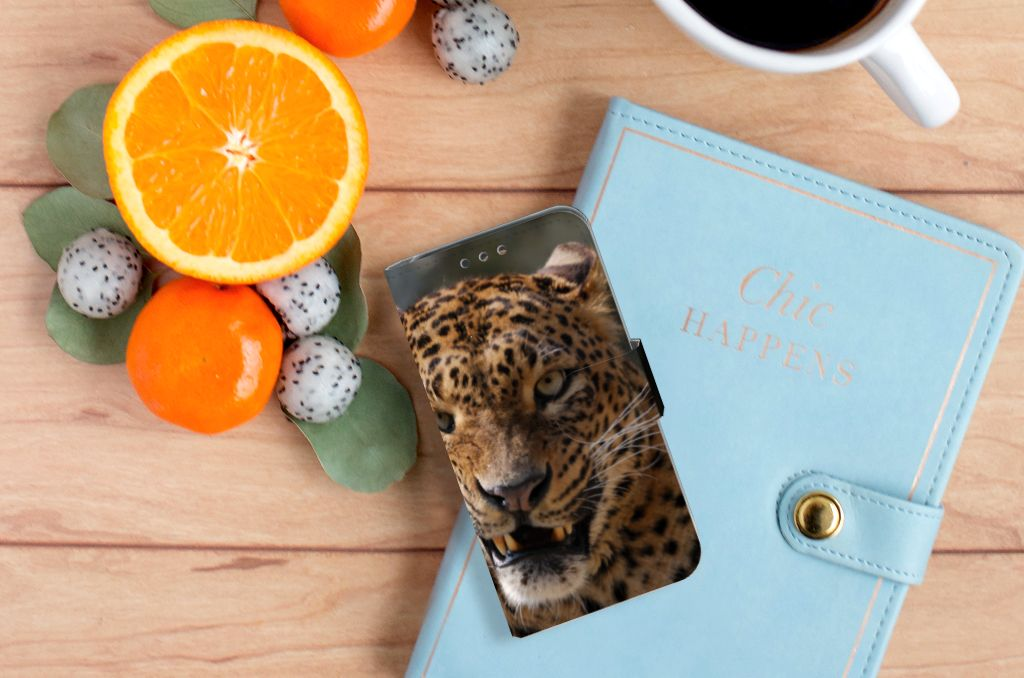 Huawei Y5 Y560 Telefoonhoesje met Pasjes Luipaard