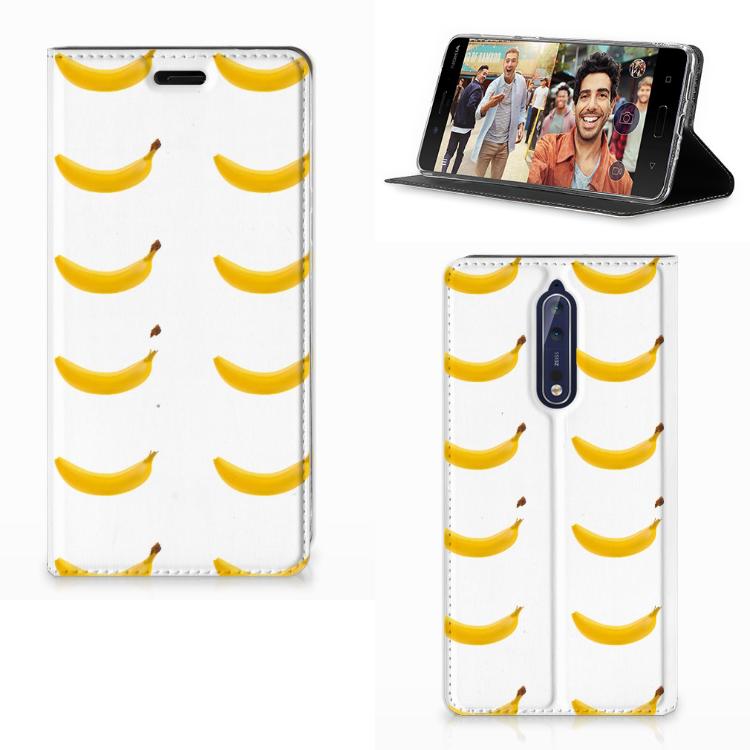 Nokia 8 Flip Style Cover Banana