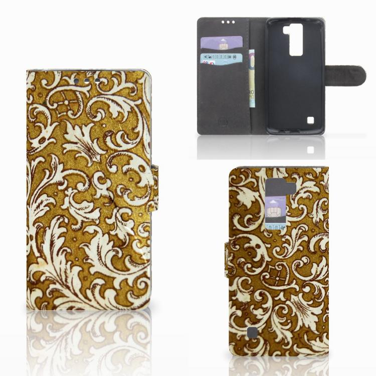 Wallet Case LG K8 Barok Goud