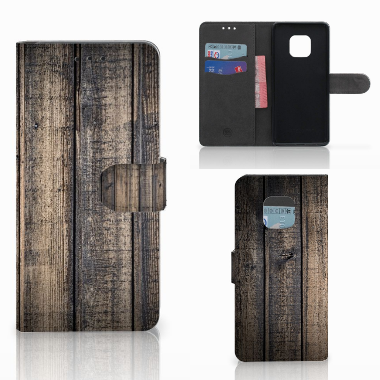 Huawei Mate 20 Pro Book Style Case Steigerhout