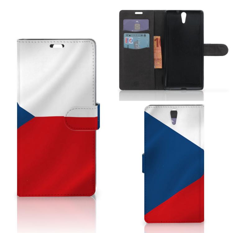 Sony Xperia C5 Ultra Bookstyle Case Tsjechië