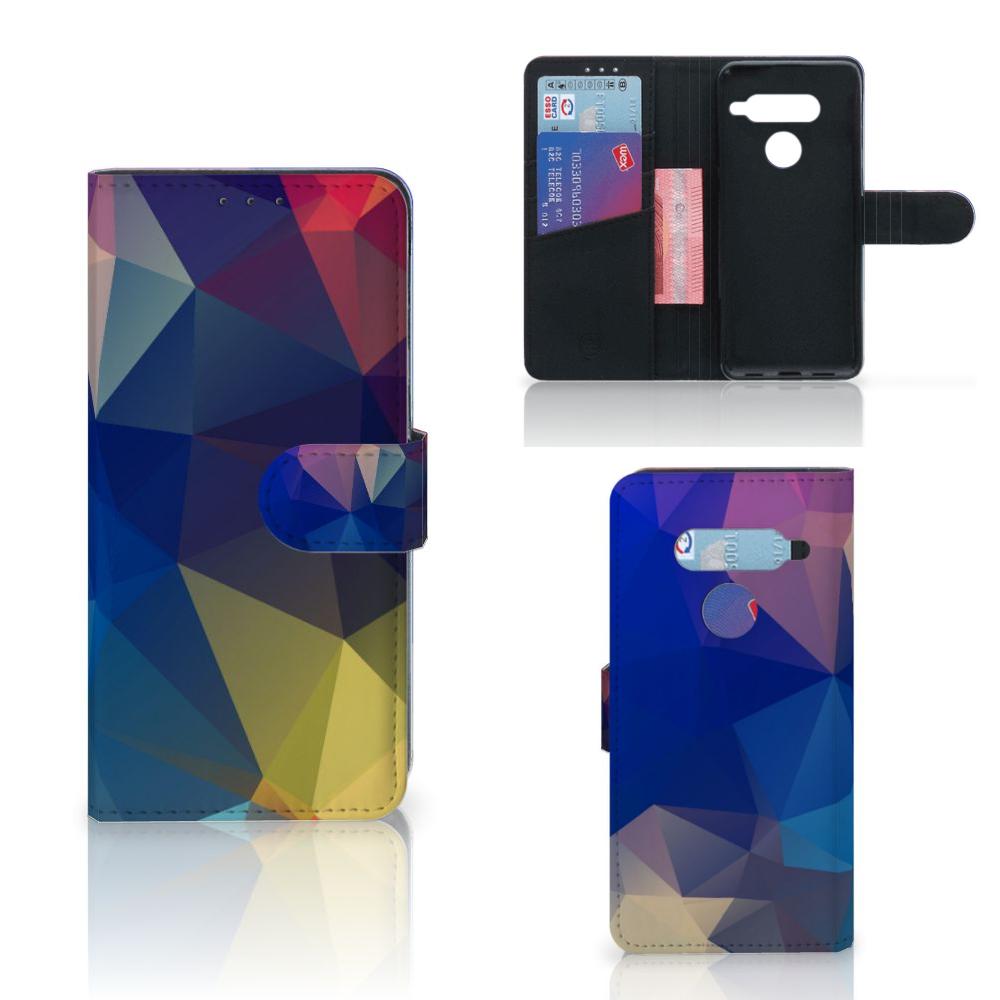 LG V40 Thinq Bookcase Polygon Dark
