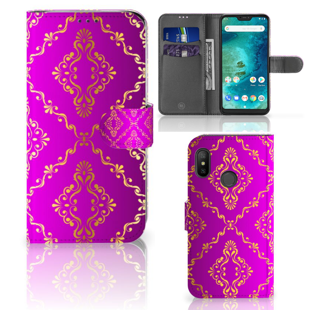 Wallet Case Xiaomi Mi A2 Lite Barok Roze