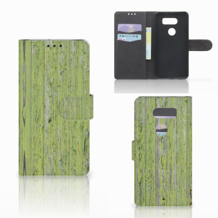 LG V30 Boekhoesje Design Green Wood