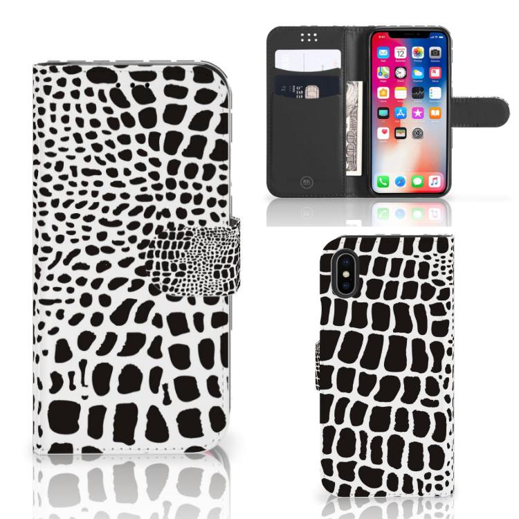 Apple iPhone X | Xs Telefoonhoesje met Pasjes Slangenprint