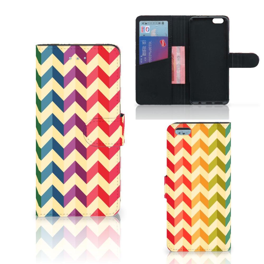 Apple iPhone 6 Plus | 6s Plus Telefoon Hoesje Zigzag Multi Color