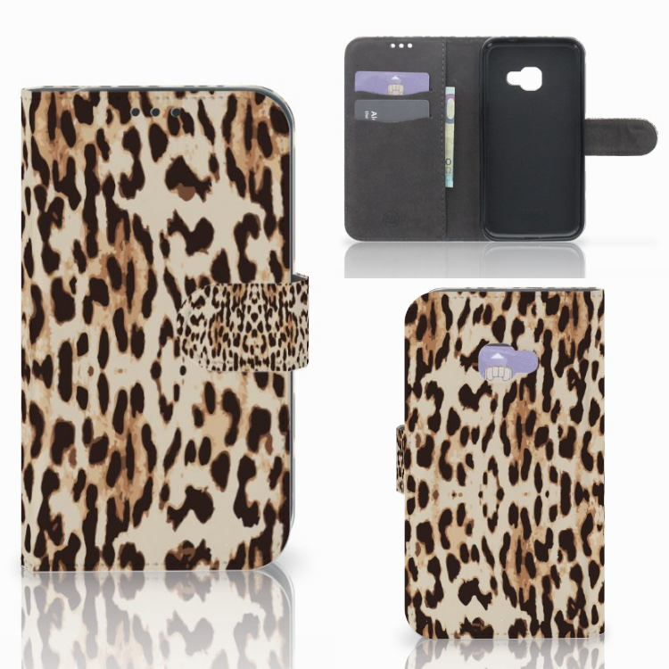Samsung Galaxy Xcover 4   Xcover 4s Telefoonhoesje met Pasjes Leopard