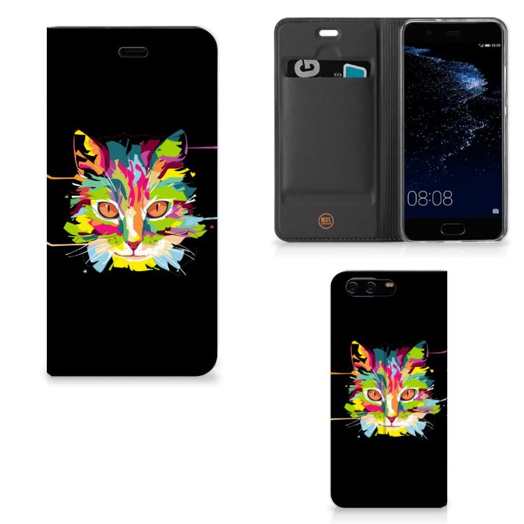 Huawei P10 Magnet Case Cat Color