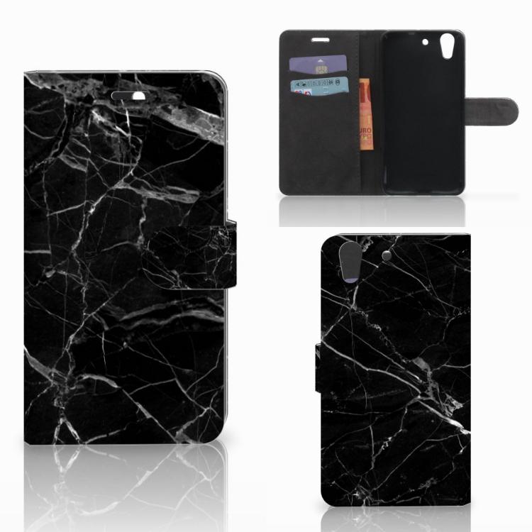 Huawei Y6 II | Honor 5A Bookcase Marmer Zwart