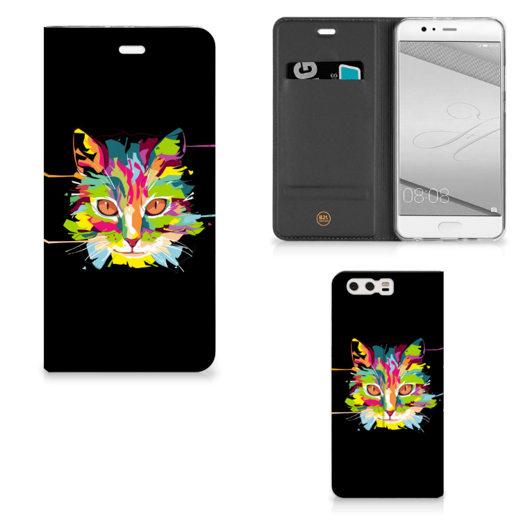 Huawei P10 Plus Magnet Case Cat Color