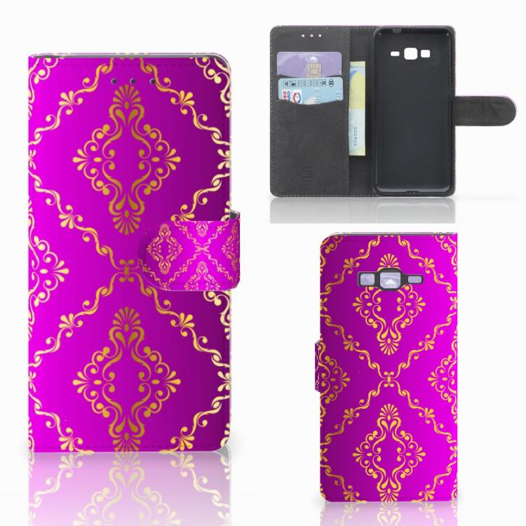 Wallet Case Samsung Galaxy Grand Prime | Grand Prime VE G531F Barok Roze