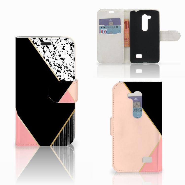LG L Fino Bookcase Zwart Roze Vormen