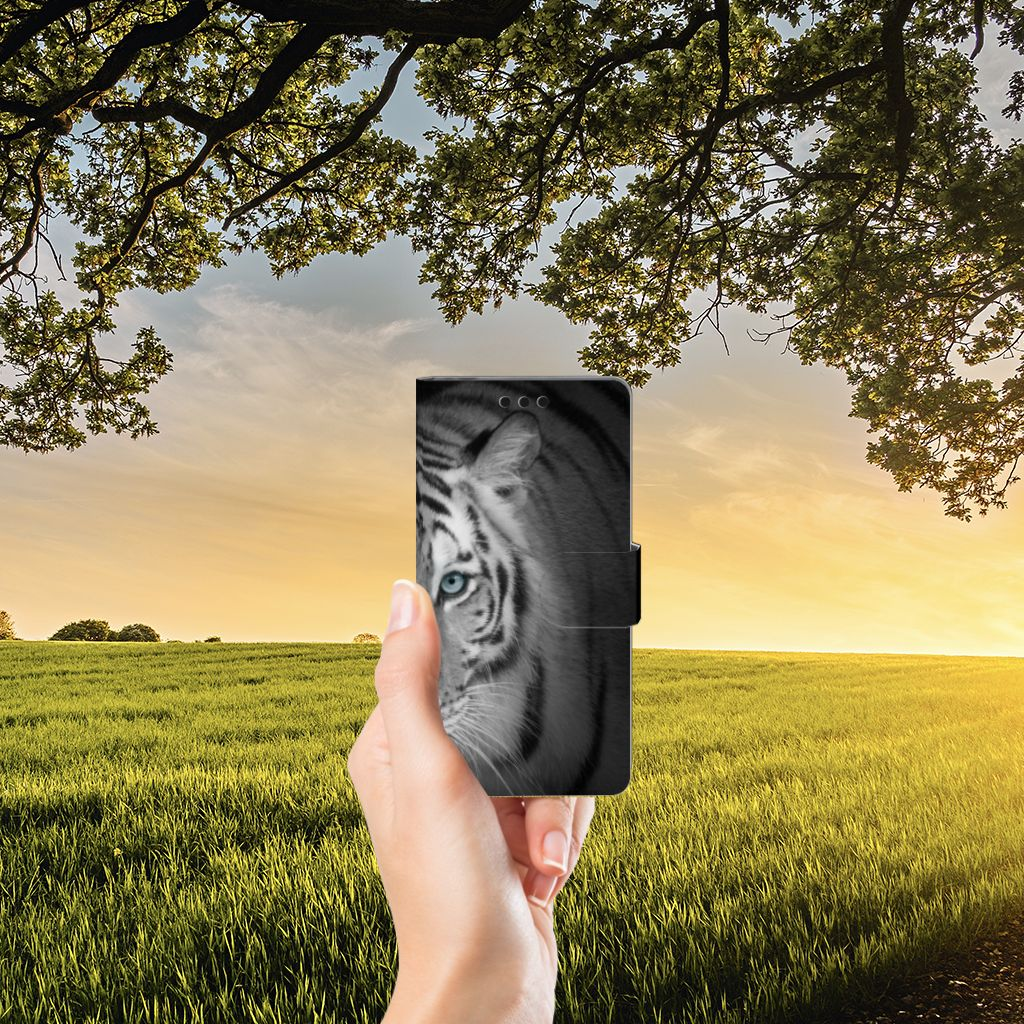 Sony Xperia M4 Aqua Uniek Boekhoesje Tijger