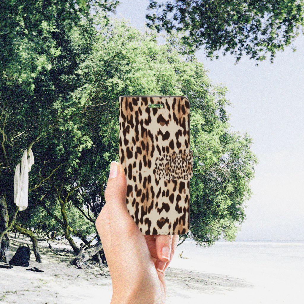 Acer Liquid Z330 Telefoonhoesje met Pasjes Leopard