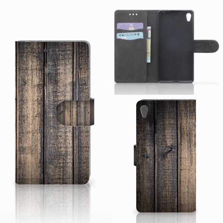 Sony Xperia E5 Book Style Case Steigerhout