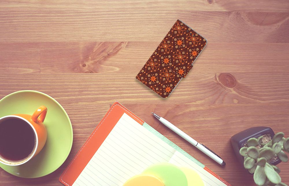 Samsung Galaxy A3 2015 Uniek Boekhoesje Batik Brown