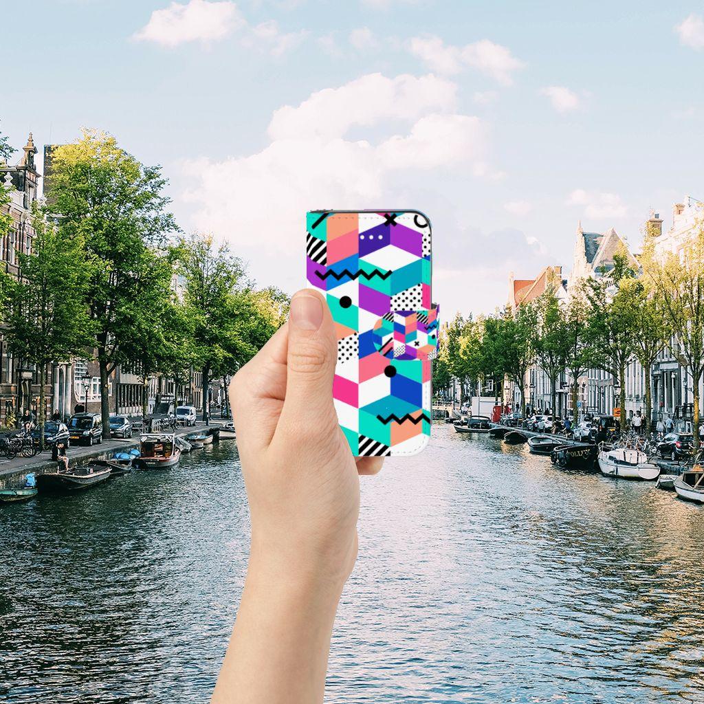 Apple iPhone 5 | 5s | SE Boekhoesje Design Blocks Colorful