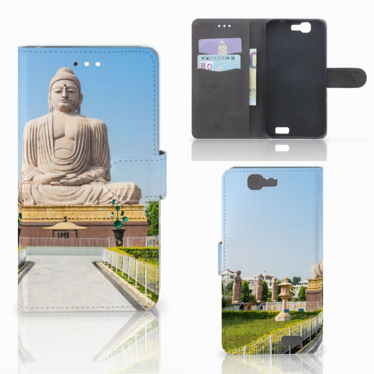 Huawei Ascend G7 Flip Cover Boeddha