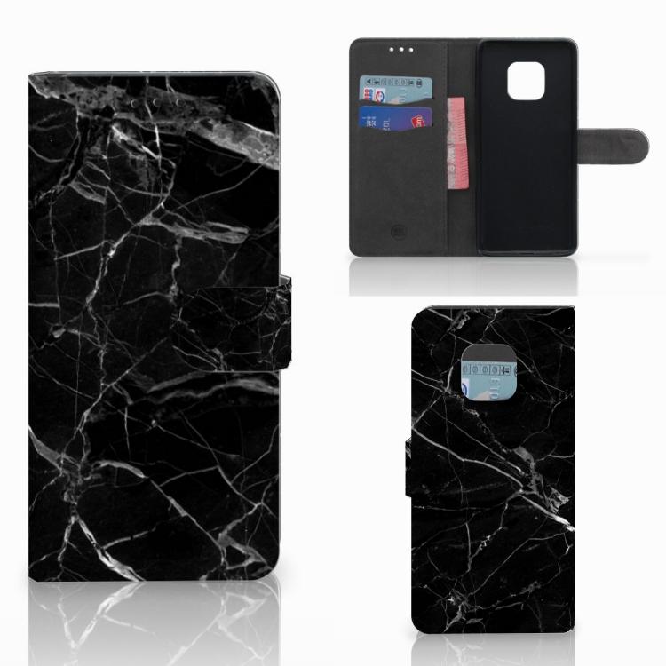 Huawei Mate 20 Pro Bookcase Marmer Zwart