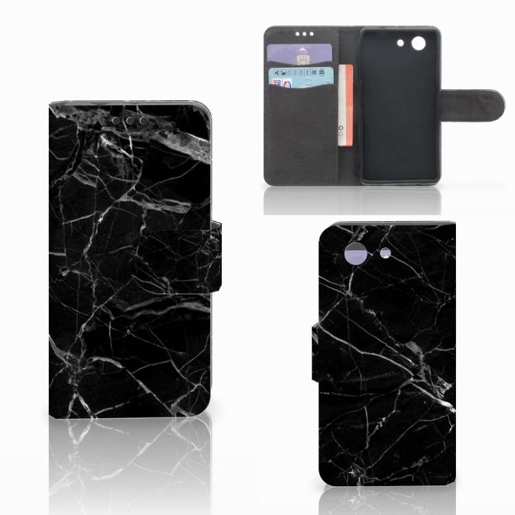 Sony Xperia Z3 Compact Bookcase Marmer Zwart - Origineel Cadeau Vader