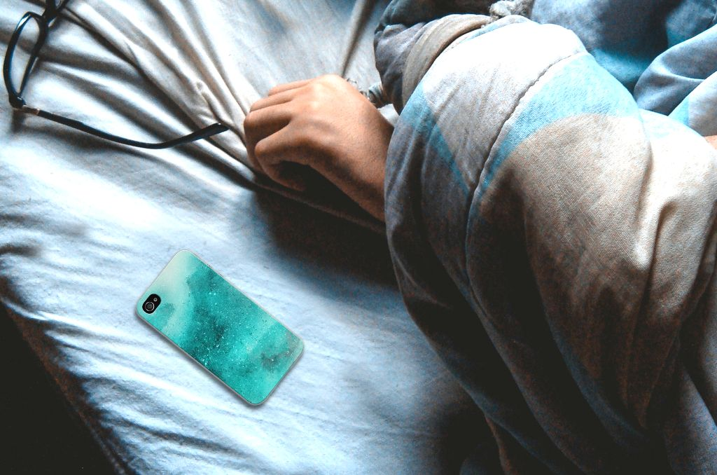 Hoesje maken Apple iPhone 4 | 4s Painting Blue