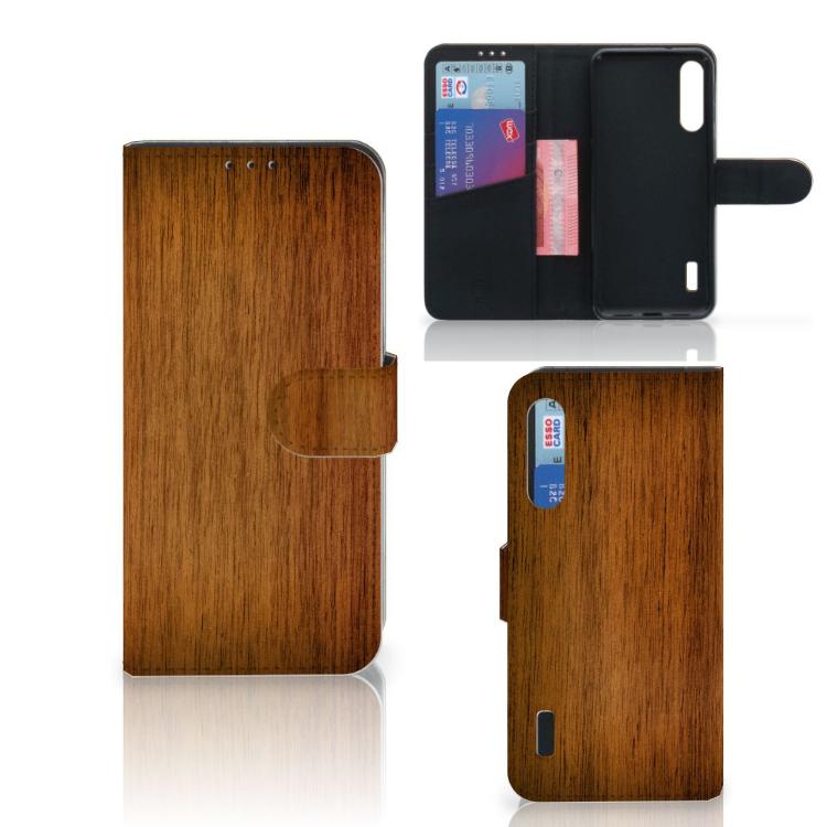 Xiaomi Mi A3 Book Style Case Donker Hout