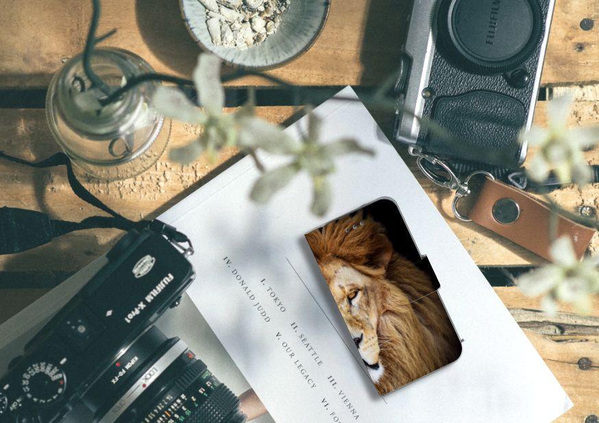 Samsung Galaxy S4 Telefoonhoesje met Pasjes Leeuw