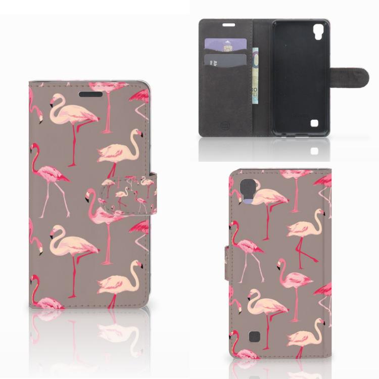 LG X Power Telefoonhoesje met Pasjes Flamingo