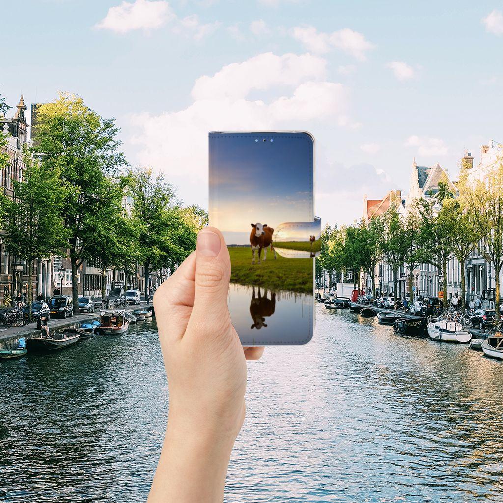 Huawei P30 Lite (2020) Telefoonhoesje met Pasjes Koe