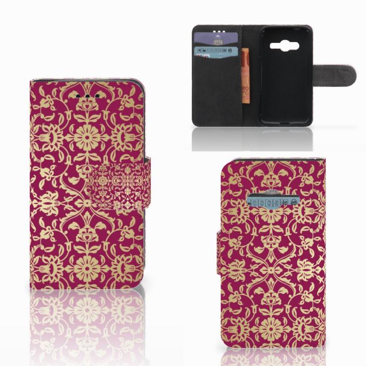 Wallet Case Samsung Galaxy Trend 2 Barok Pink