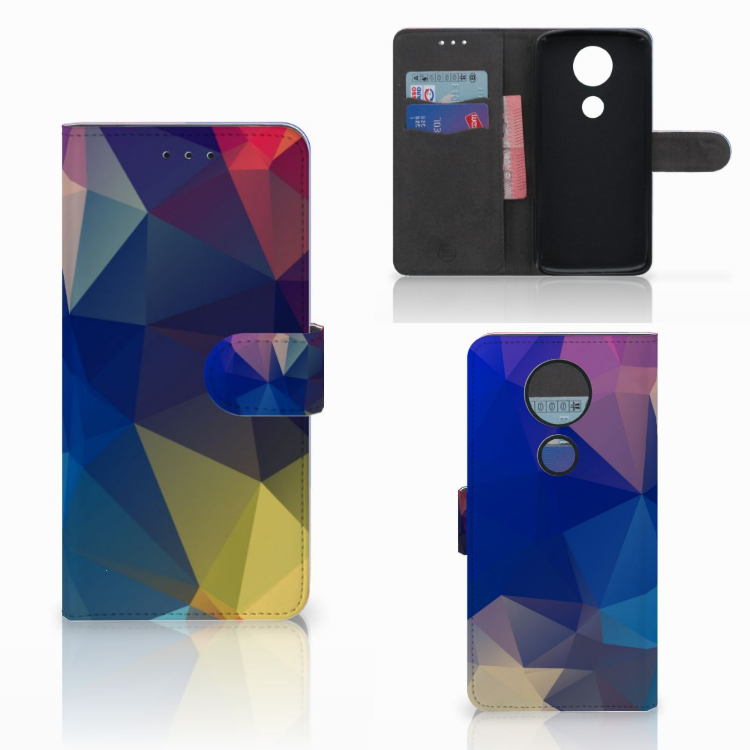 Motorola Moto E5 Plus Bookcase Polygon Dark
