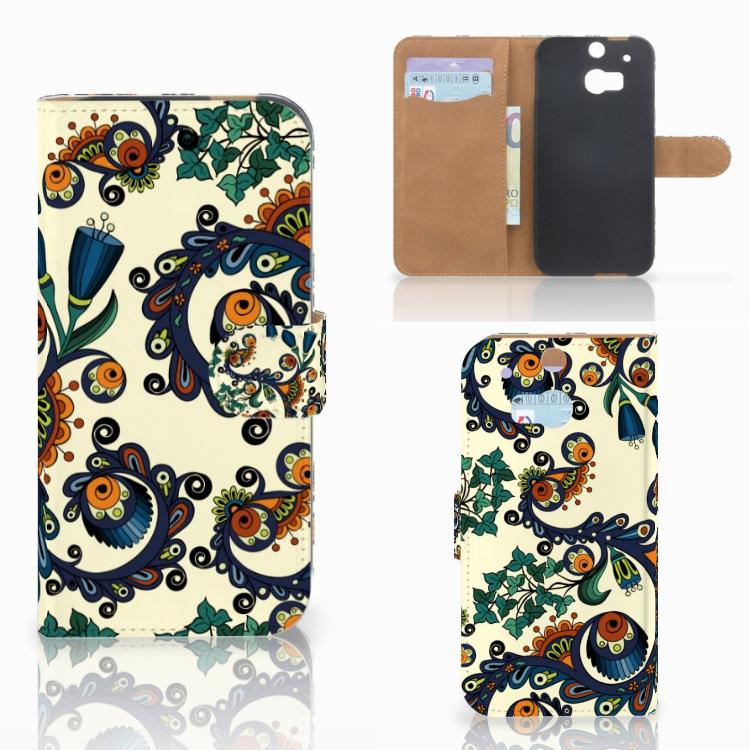 Wallet Case HTC One M8 Barok Flower