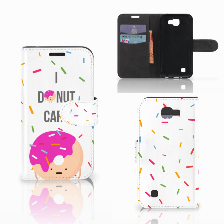 LG K4 Book Cover Donut Roze
