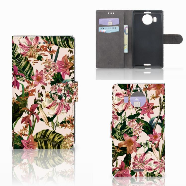 Microsoft Lumia 950 XL Hoesje Flowers