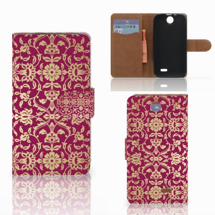 Wallet Case HTC Desire 310 Barok Pink