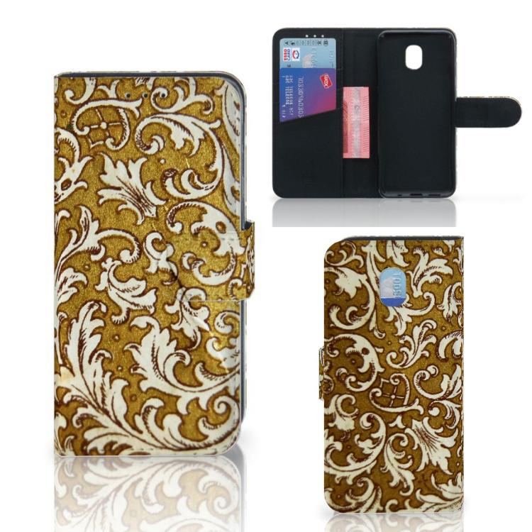 Wallet Case Samsung Galaxy J3 (2018) Barok Goud