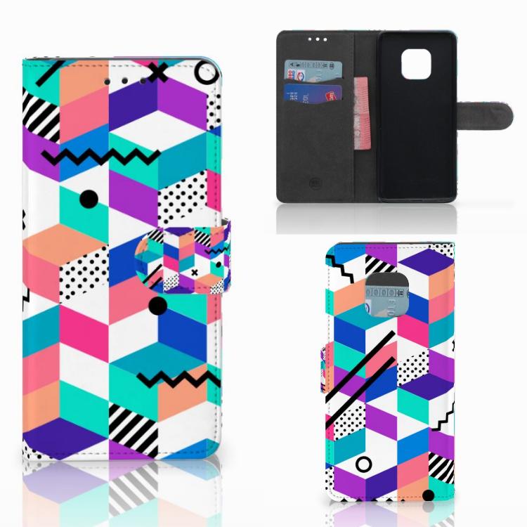 Huawei Mate 20 Pro Bookcase Blokken Kleurrijk