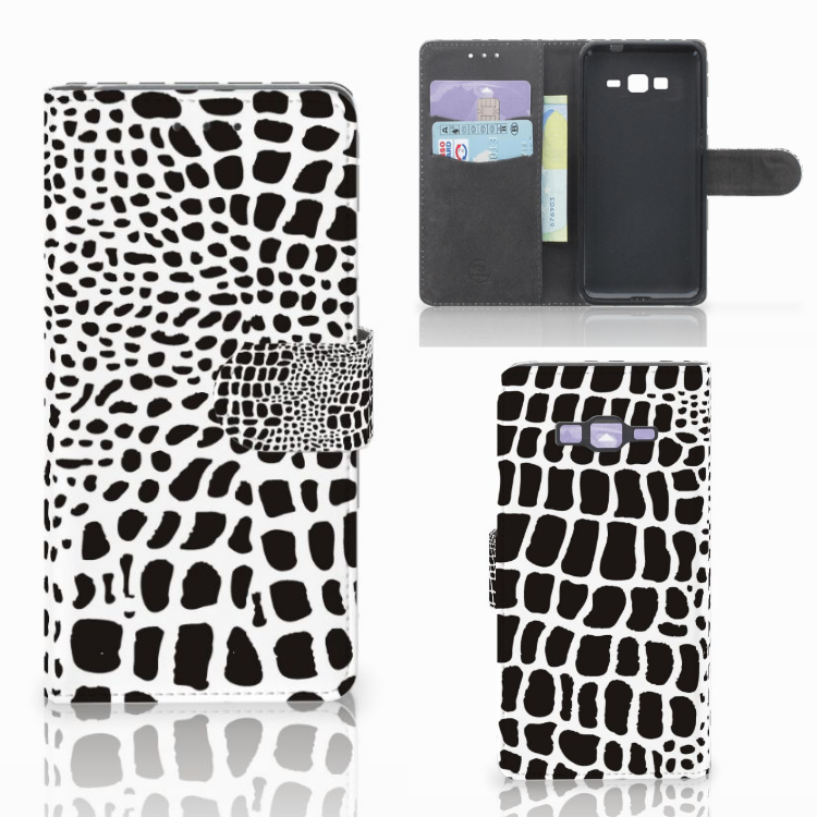 Samsung Galaxy Grand Prime | Grand Prime VE G531F Telefoonhoesje met Pasjes Slangenprint