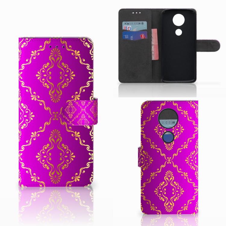 Wallet Case Motorola Moto E5 Plus Barok Roze